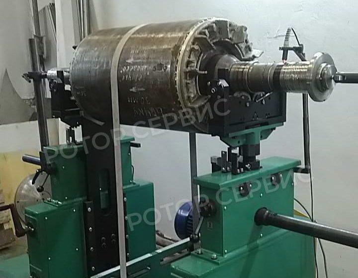 Фото выполненной балансировки ротора