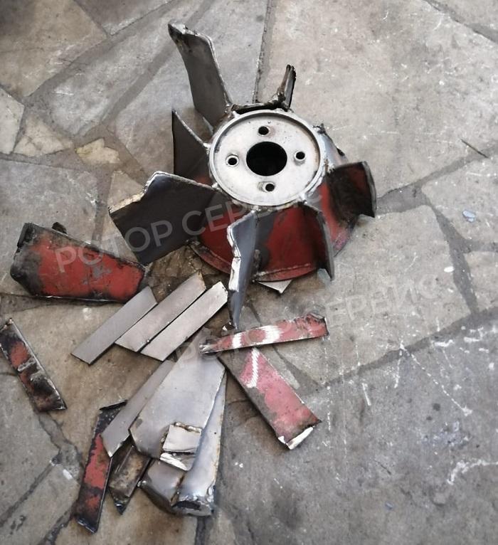 Ремонт и восстановление лопастей крыльчатки вытяжного вентилятора