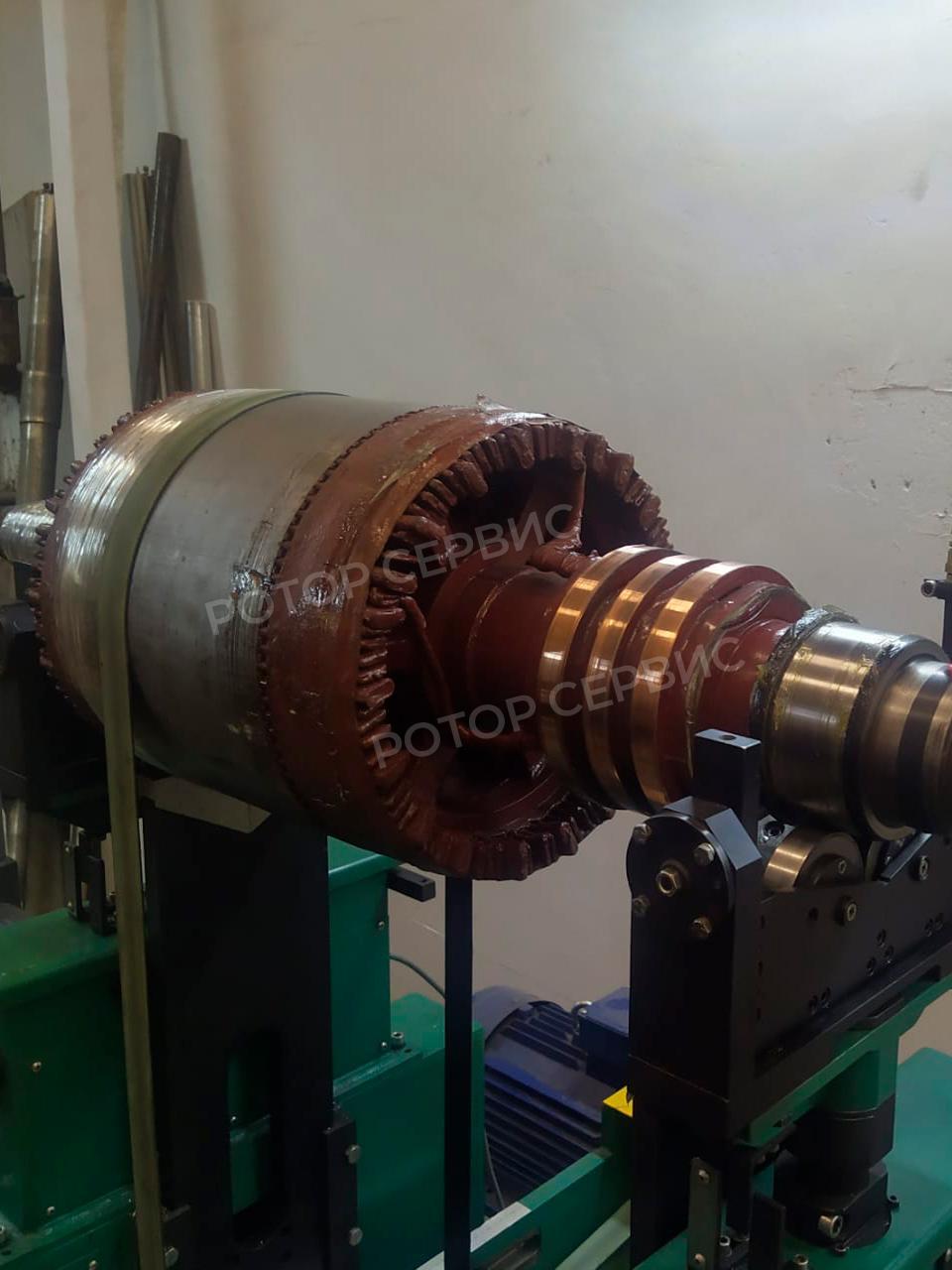 Работы по балансировке ротора электродвигателя после капремонта