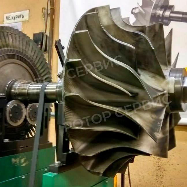 Балансировка ротора дизельной турбины
