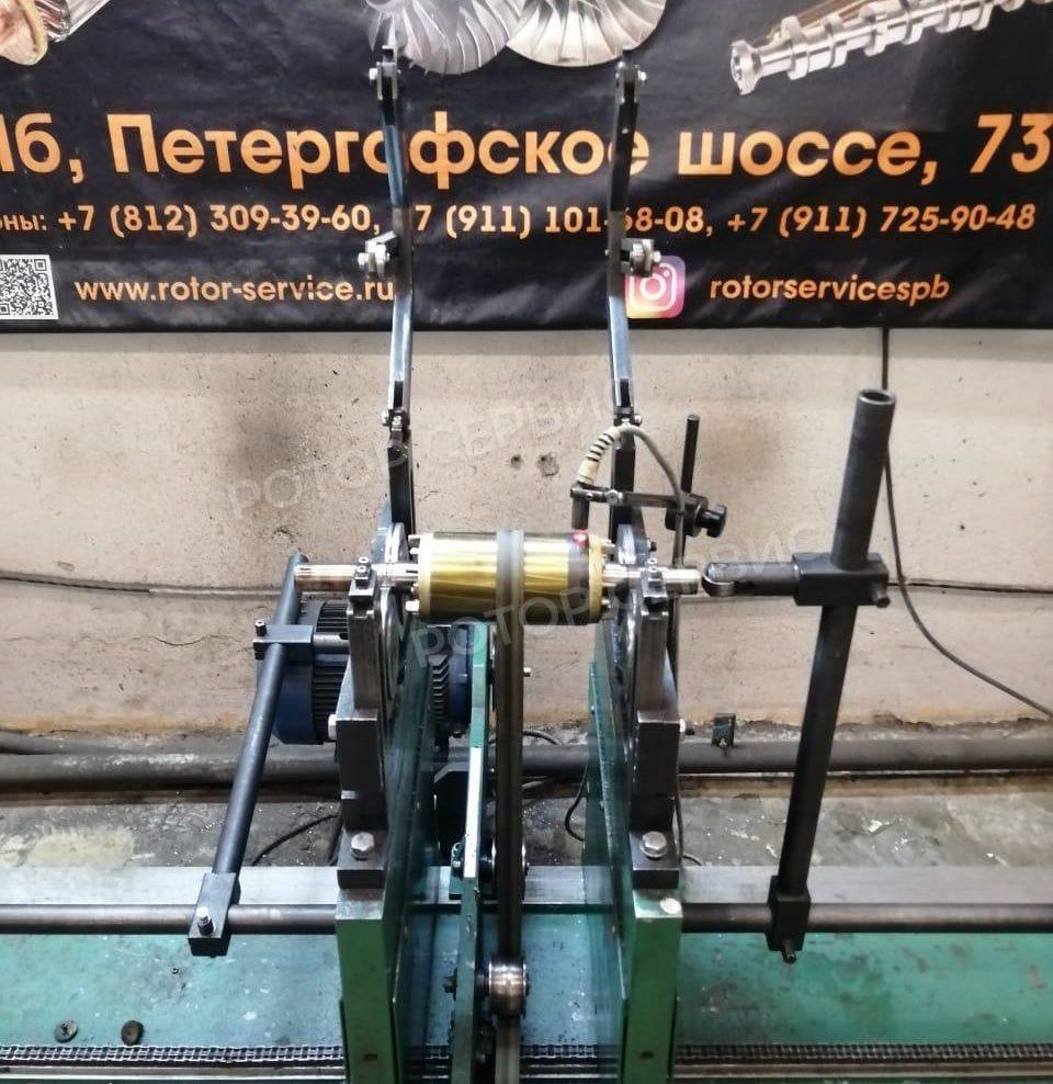 Выполненные работы по балансировке асинхронного ротора 2