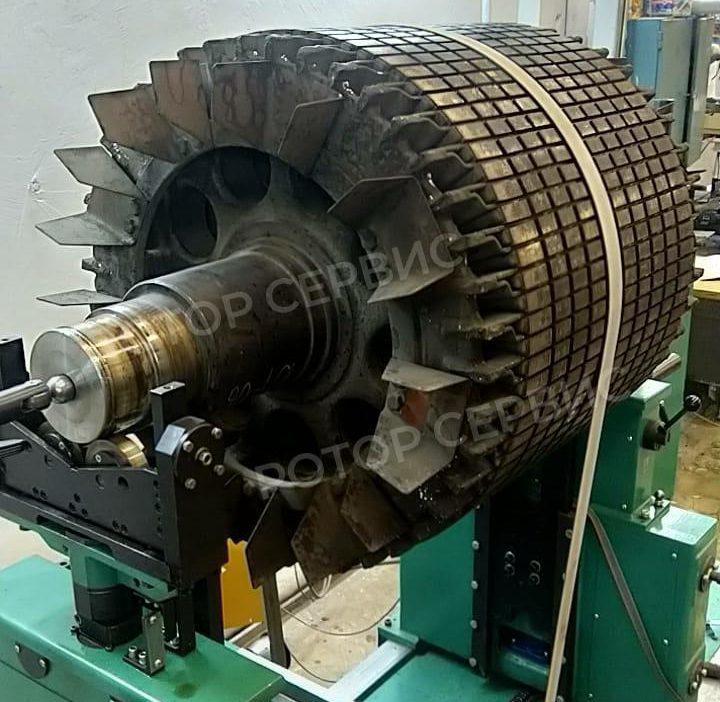 Выполненная работа по балансировке ротора электродвигателя