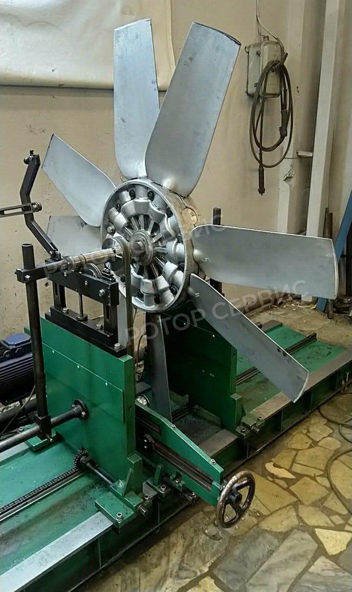 Профилактика работ по балансировке крыльчатки вентилятора