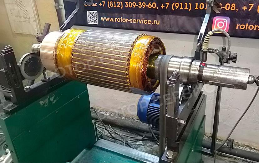 Балансировка ротора электродвигателя