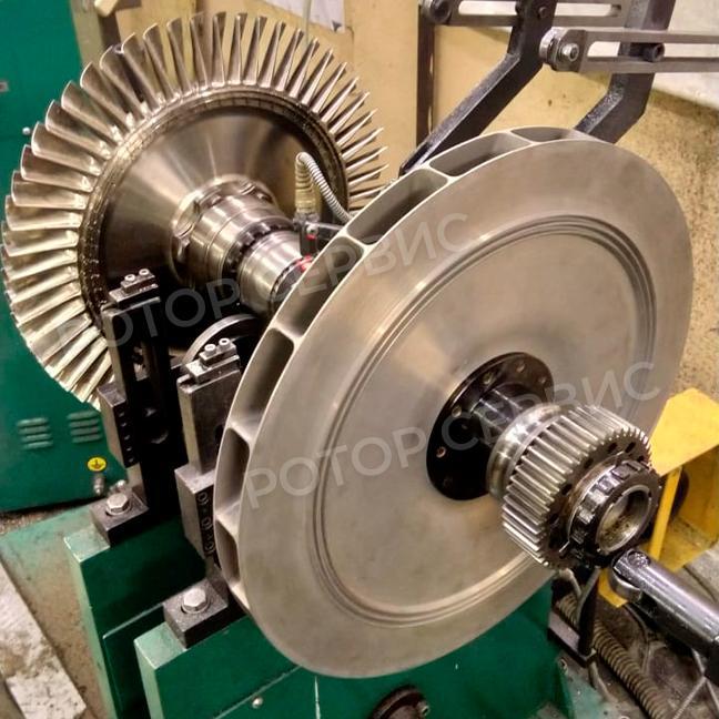 Балансировка роторов промышленных турбин